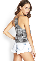 Forever 21 Cropped Tribal Print Cami