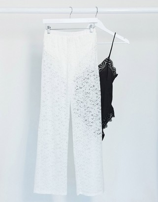 ASOS DESIGN jersey lace suit pants