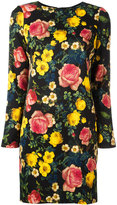 Fausto Puglisi floral print mini dress - women - Silk/Spandex/Elastane/Acetate/Viscose - 40