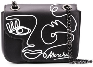 Moschino Face Drawing Shoulder Bag