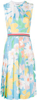 Thom Browne floral pleated dress - women - Silk - 42