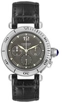 Cartier Men's Pasha Chronograph W3107355 Alligator Leather Automatic Watch with Dial