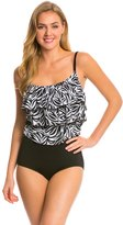 Longitude Tribal Quest Triple Tier Tank Blouson One Piece Swimsuit 8138692