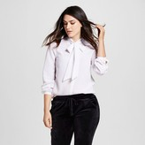 Mossimo Women's Woven Blouse with Bow Tie Neck