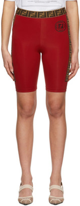 Fendi Red Band Bike Shorts