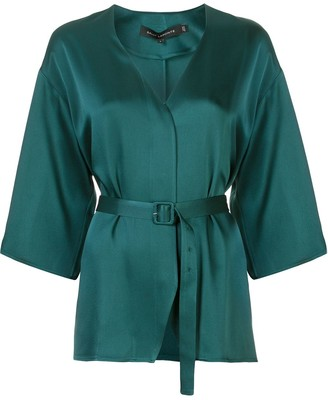 Sally LaPointe belted blouse