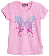 City Threads Butterfly Jersey Tee (Toddler/Kid) - Bright Pink-10