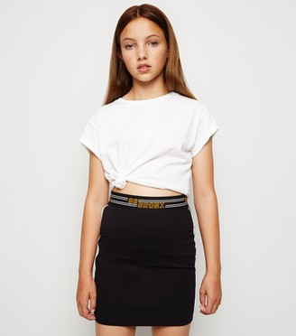 New Look Girls 96 Bronx Slogan Tube Skirt