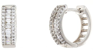 Bony Levy Mix Diamond Huggie Hoop Earrings