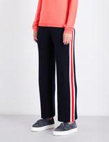 Chinti and Parker Stripe-intarsia straight cashmere jogging bottoms