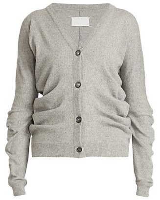 Maison Margiela Draped Cashmere-Blend Cardigan