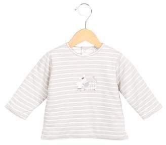 Catimini Girls' Striped Printed Top