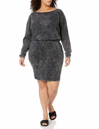 Junarose Women's Plus Size Mona Long Sleeve Fitted Dress