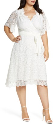 Kiyonna Graced with Love Faux Wrap Dress