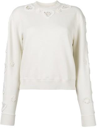 Saint Laurent Ecru Cotton Knitwear