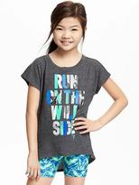 Old Navy Go-Dry Relaxed Hi-Lo Graphic Tee for Girls