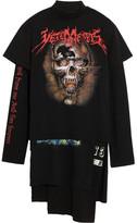 Vetements Layered Printed Cotton-jersey T-shirt Dress - Black