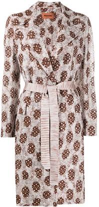 Missoni Lace Detail Belted Coat