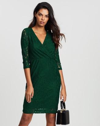 Dorothy Perkins Wrap Lace Bodycon Dress