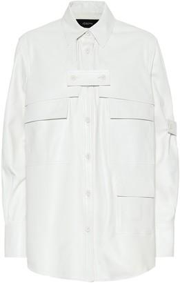 Joseph Wesley leather shirt