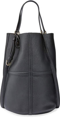 Salvatore Ferragamo Leather Medium Bucket Tote Bag