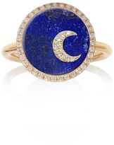 Noush 14ct Yellow Gold Moon Ring