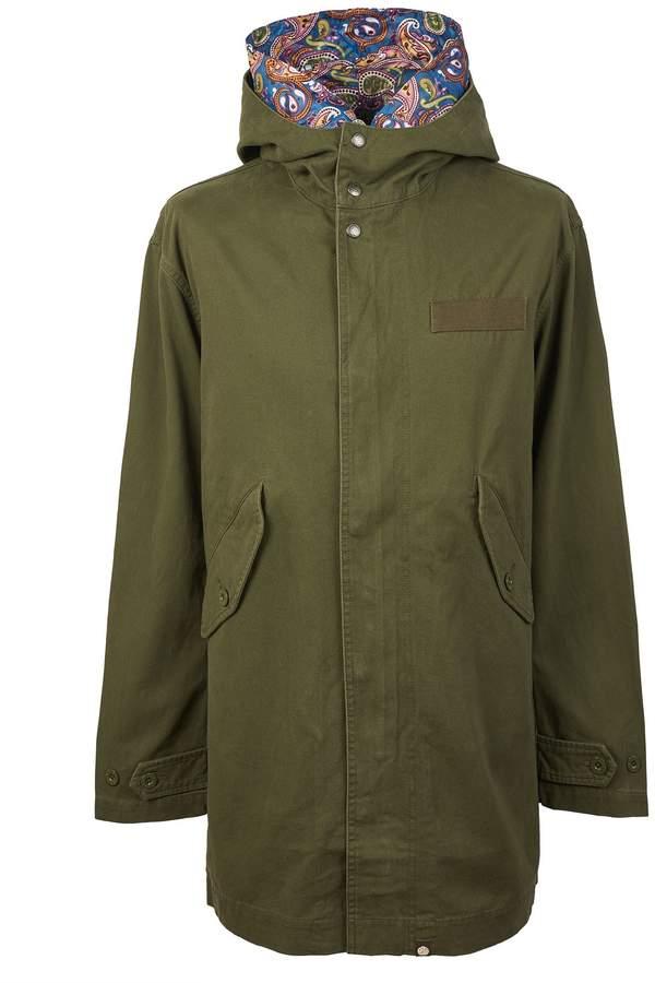 Pretty Green Men's Cotton Zip Up Hooded Parka