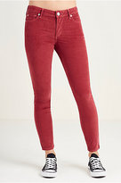 True Religion Hand Picked Super Skinny Cropped Corduroy Womens Pant