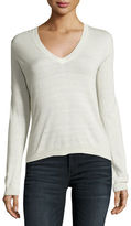 Theory Yulia Silk-Blend V-Neck Sweater