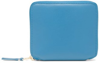 Comme des Garcons Zip-around Leather Wallet - Blue