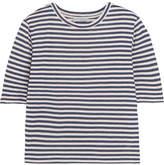 Vince Striped Silk-blend Jersey T-shirt