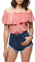 Free People Women's Love Letter Off The Shoulder Top