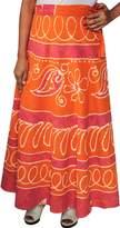 Maple Clothing Batik Wrap Around Cotton Long Skirt Womens India Clothing