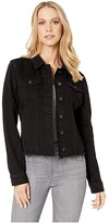 Blank NYC Black Denim Jacket in Ghosted (Ghosted) Women's Coat