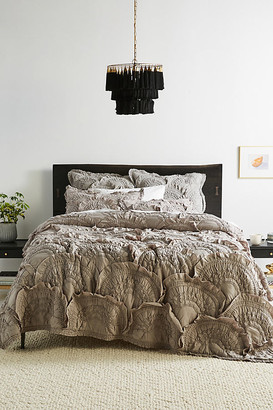 Anthropologie Rivulets Quilt By in Grey Size Q top/bed
