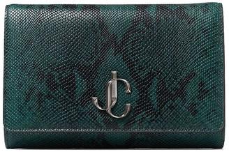 Jimmy Choo Varenne snake-effect clutch bag