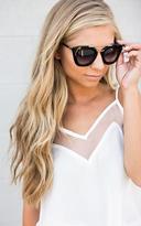 Ily Couture Jamie Black Sunglasses - Black Lenses