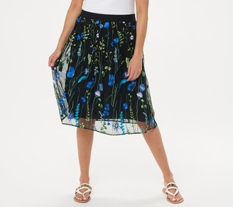 Susan Graver GRAVER Embroidered Mesh Skirt