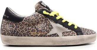 Golden Goose Leopard Print Superstar Sneakers