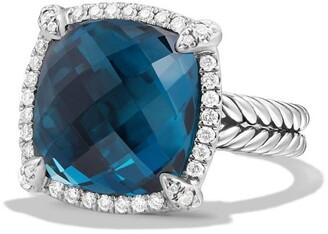 David Yurman Chatelaine Large Pave Bezel Ring with Diamonds