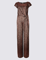 M&S Collection Metallic Knot Detail Short Sleeve Jumpsuit