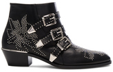 Chloé Susanna Leather Studded Booties in Black.