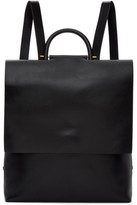 Building Block Black Leather Rucksack