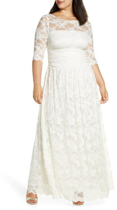 Kiyonna Lace A-Line Gown