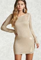 Forever 21 Metallic Knit Sweater Dress