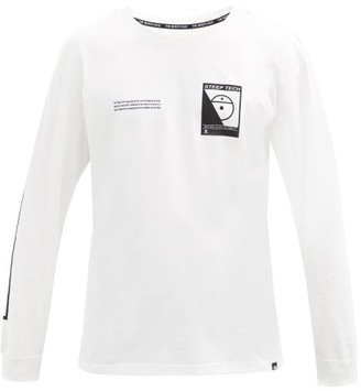 The North Face Steep Tech-print Cotton-jersey Long-sleeve T-shirt - White