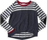 Design History Striped Top (Toddler/Kid) - Kitten Gray--X-Large