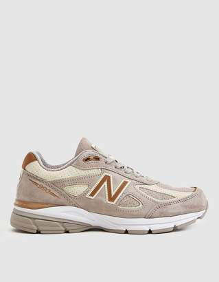 New Balance Women's 990V4 Running Sneaker in Beige, Size 8.5 | Leather