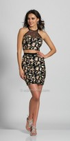 Dave and Johnny Two Piece Floral Racer Back Fitted Cocktail Dress