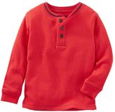Osh Kosh Toddler Boy Striped Thermal Henley Tee